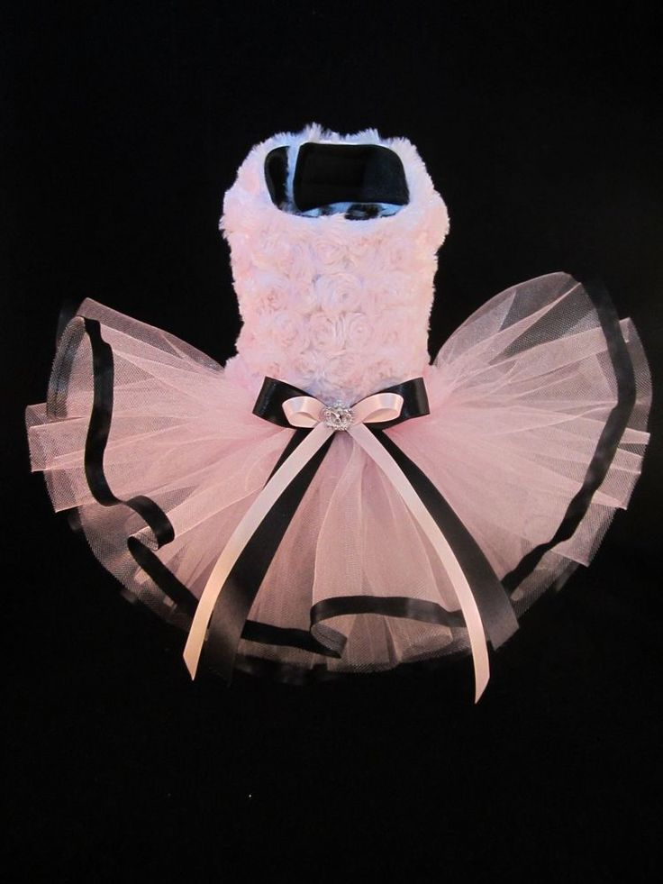 Pink Ribbon Princess Dog Tutu Dress