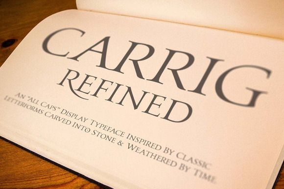 Carrig Refined by Paulo Goode on @creativemarket