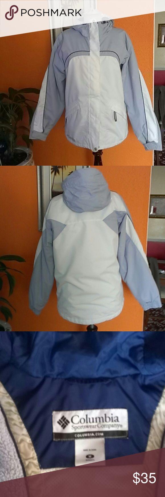 Columbia Coat Jacket Columbia Coat Jacket Sportswear Company, colors shell,100%nylon, white shell, 100%polyester, colors lining, 100%nylon, white lining, 100%polyester, insulation, 100%polyester, color white, blue, blue light Columbia Jackets & Coats