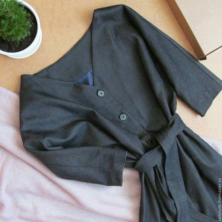 Купить Элегантное шерстяное платье - темно-серый, однотонный, шерстяное платье, платье шерсть