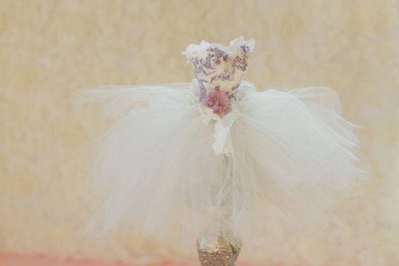 Brautdusche Cake Topper, Cinderella Kleid, Tutu Kleid, Hochzeit Dusche, Herzstück, Babyparty, Prinzessin Party-Dekor, weiße Hochzeit
