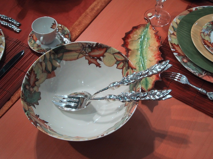"""collection """"autumn leaves"""" plates , cups and saucers, coffee or tea sets... and lovely accents in Limoges porcelain. mix and match of colors, animals, mushrooms, or autums leaves....forest and wood accents"""