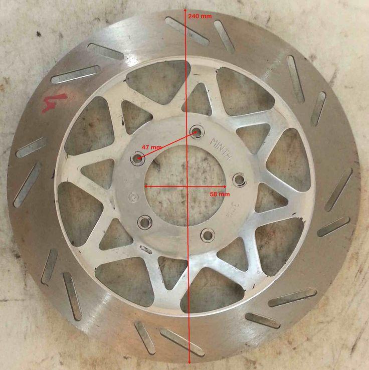 DISCO FRENO D.est.240 D.int.58 sp.4 mm distanza viti 47 mm
