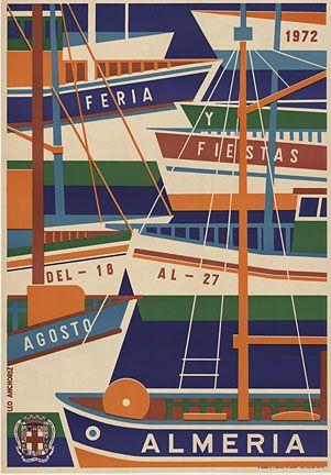 Poster for Almeria Boat Festival, Leo Anchoriz, 1972