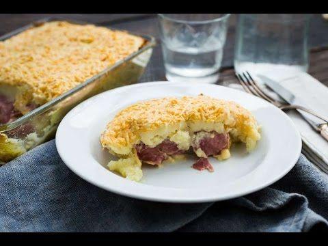 Witlofschotel met aardappelpuree en ham en kaas - YouTube