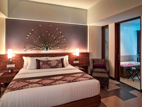 Suite Bedroom at Sun Island Hotel Kuta #bali #balisuites