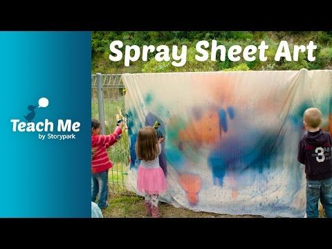 Teach Me: Spray Sheet Art - YouTube