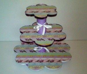 Cupcake Etagere aus Pappe basteln - Schritt für Schritt Anweisung