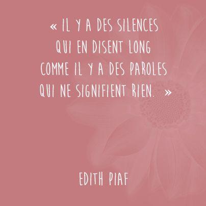 Le silence vs la parole