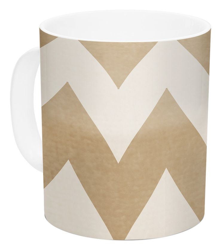 Biscotti by Catherine McDonald 11 oz. Chevron Ceramic Coffee Mug