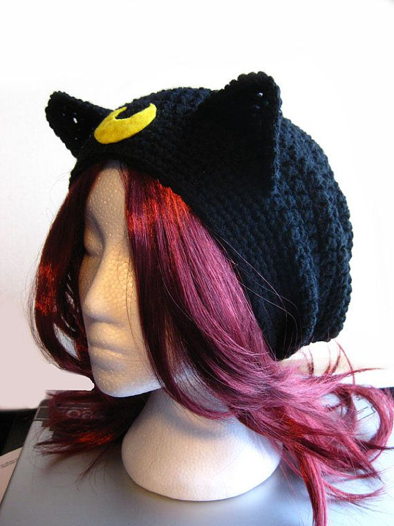 Luna/Artemis the Cat Inspired Slouchy Hat by ShopOfManyThings