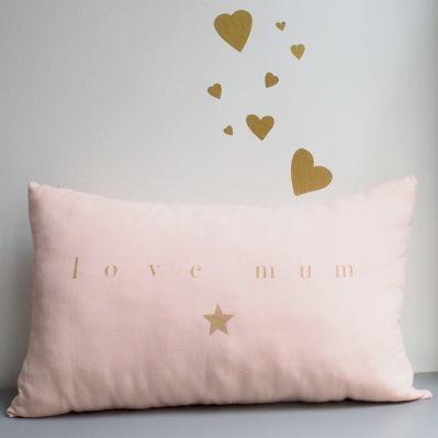 """Coussin en lin """"love mum"""""""