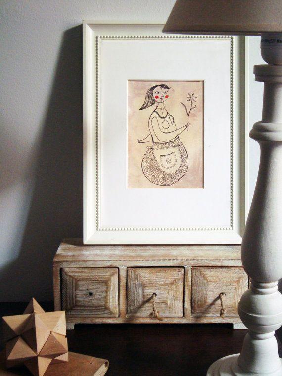 Alternative Mermaid Housewife original painting by TremblingRhymes