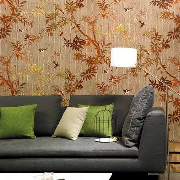 France imported ELITIS Pleats Wallpaper Wallpaper new Chinese style special material