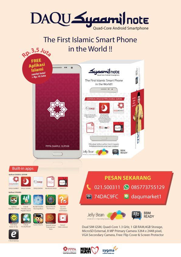 Dapatkan Handphone smartphone android Daqu syaamil note di web www.daqumarket.com