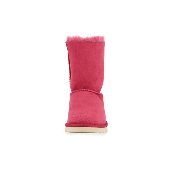 Ugg Meilani Short Bow Boot (23895 RSD) ❤ liked on Polyvore featuring shoes, boots, lonely hearts, ugg flats, fur lined boots, flats boots, bow boots and bow flats