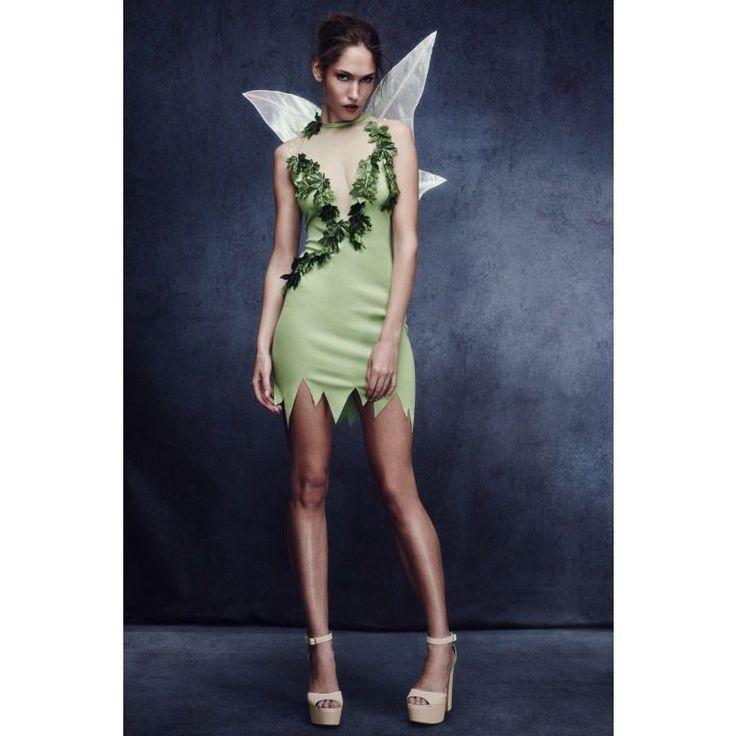 Découvrez une nouvelle version de la fée clochette avec ce déguisement sexy comprenant une robe et des ailes.