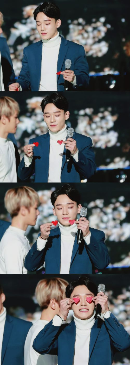 Sending the heart of mine through my eyes be like.. #chenchen