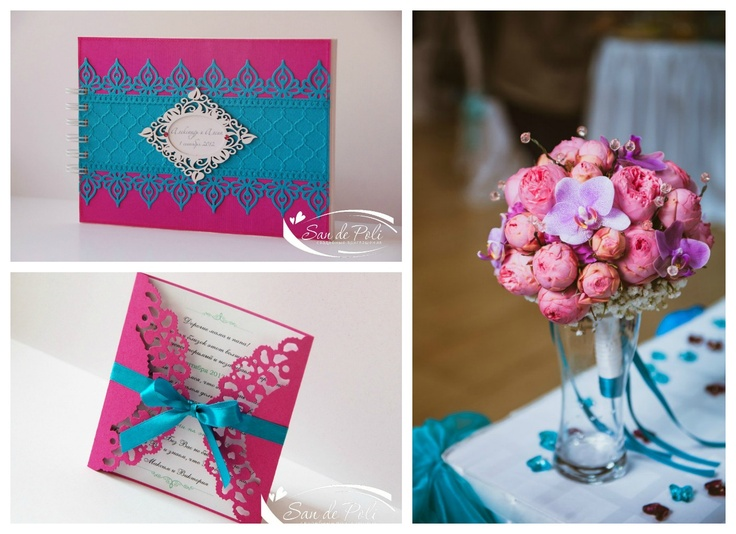 Turquoise And Pink Wedding Invitations: 94 Best Images About Turquoise & Fuchsia Wedding