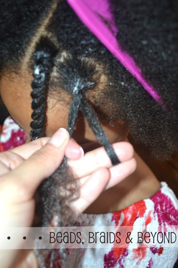Once you reach the end of the two strand twist, roll the ends in one direction multiple times to make sure the twist does not come loose.