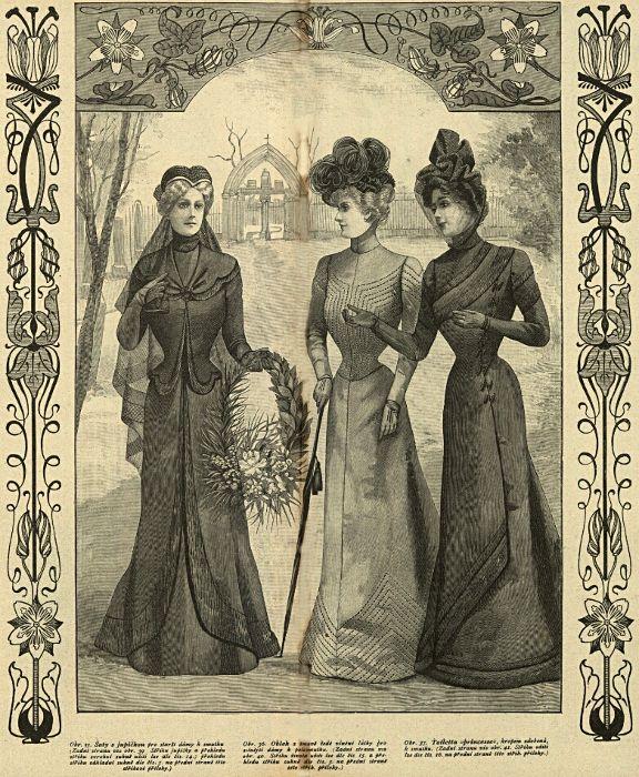 Stroje żałobne, 1899   Mourning outfits, 1899