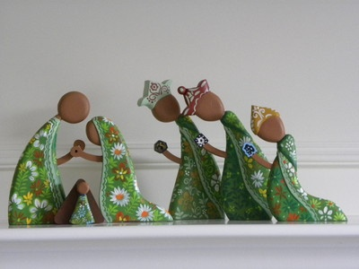 """New style 2011 NATIVITY SET with WISEMAN 8"""" tall wood from Nicaragua   eBay"""