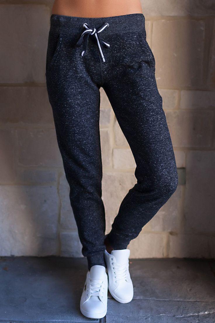 Fleece Joggers- Charcoal - Dottie Couture Boutique