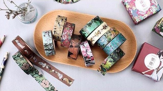 One of our new all time favourite. Ancient Asian Flowers Washi Tape. With 12 unique designs. Be sure to collect them all. Happy Wednesday ☺ FREE SHIPPING WORLDWIDE at www.bricksxcastle.com