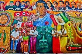Mural art + photos of Chicano Park San Diego