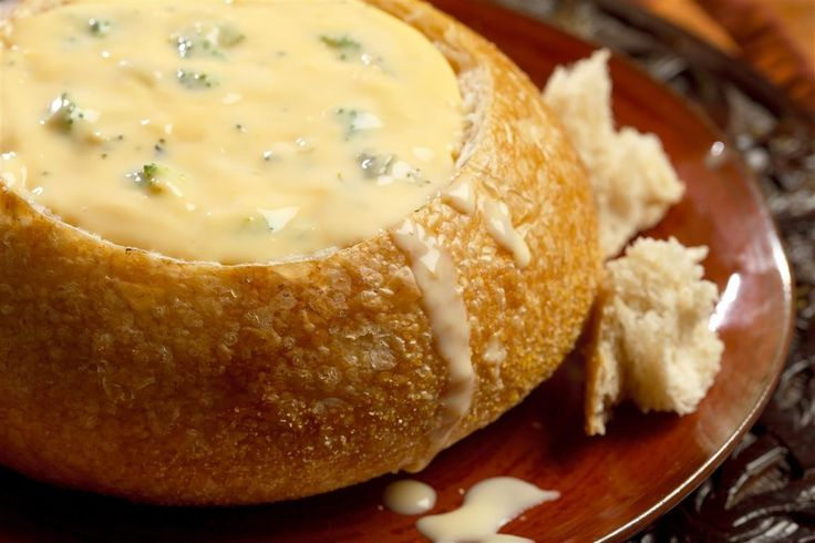 Cheddar Broccoli Soup. This image is from E-foods Direct. Not a recipe. Just a yummy looking pic. They want $106.95 for 96 servings. No word on if they come with the bread bowls or not. I'm guessing not.