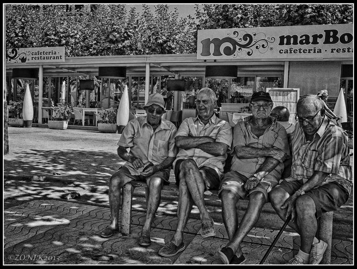 4 guys in Palamos, Spain