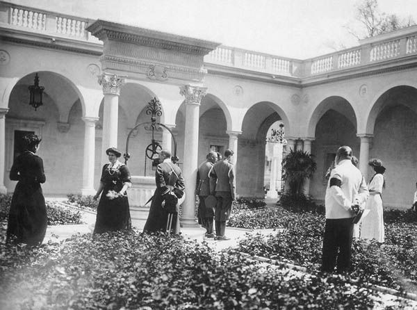 The Italian Courtyard of the Livadia Palace of Nicholas II.