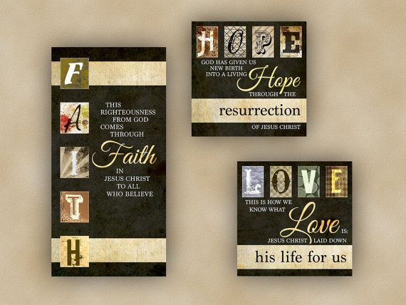 3 Christian Scripture Canvas Package: Faith by GreaterExcellence