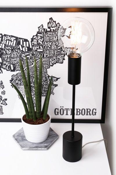 Bright bordlampe - Svart
