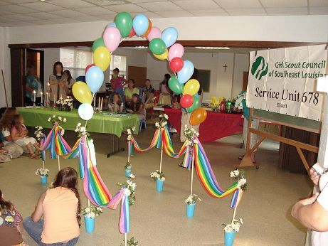How To Make Bridge for Girl Scout Bridging Ceremony - 2 diff bridge ideas on this blog