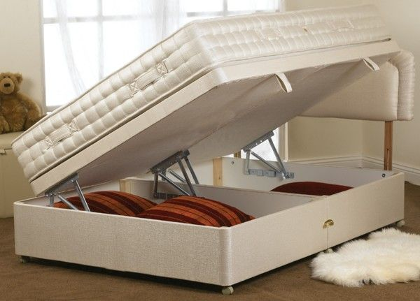 Hidden Storage Bed Base Secret And Secure Spaces Pinterest