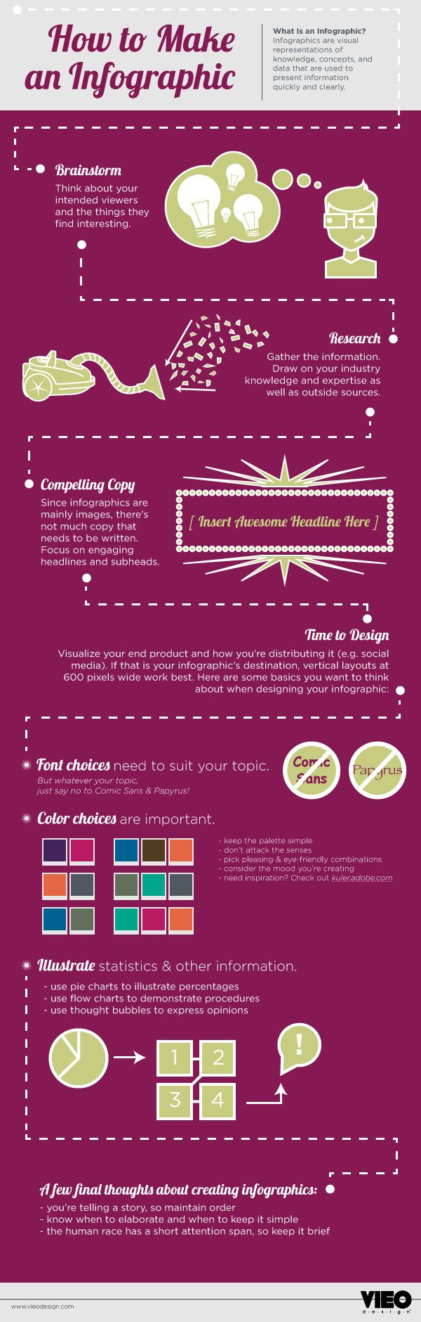 How to Make an #Infographic #infografía