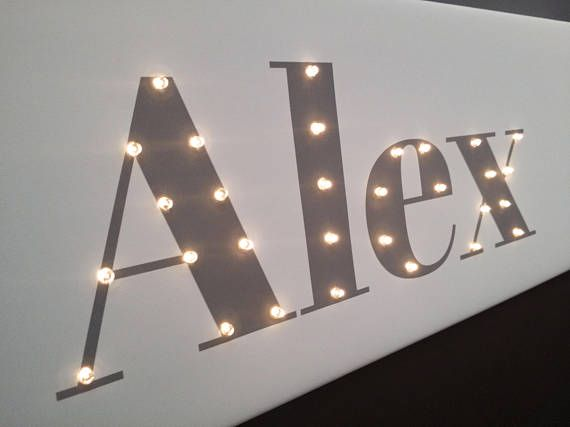 Check out this item in my Etsy shop https://www.etsy.com/listing/563247012/your-name-light-up-letters-light-up-sign