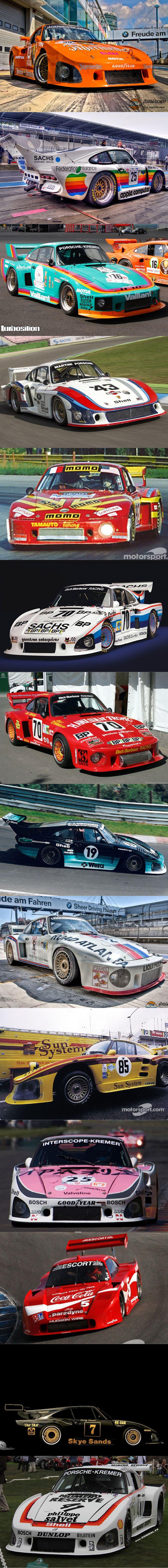 1978 Porsche 935 group 5 liveries / Jägermeister / Apple / Vaillant / Martini / Momo / Sachs / Hawaiian Tropic / Wera / Liqui Moly / Sun / Italya / Coca Cola / Skye Sands / Philippe Salvet / Kremer K3 / Germany