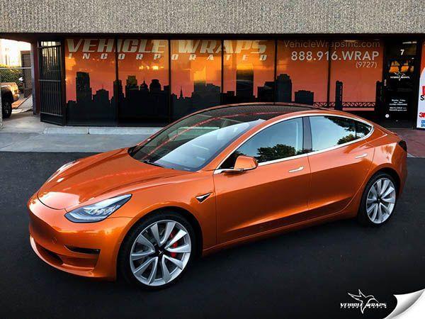 Flussiges Kupfer Tesla Model 3 Vehicle Wraps Inc Flussiges Kupfer Model Tesla Vehicle Wraps Tesla Model Tesla Tesla Electric Car