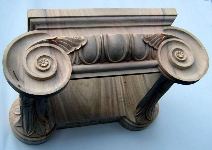 Ionic capital. Copy from The Theater of Marcellus in Rome, Italy . Hand carved by Agrell Architectural Carving