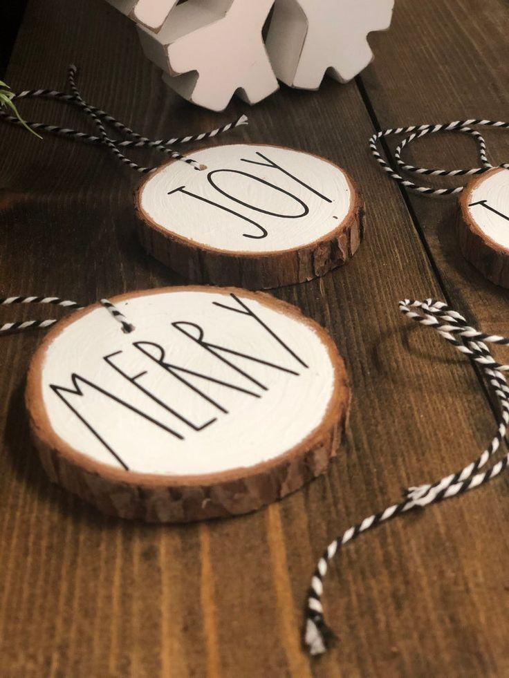 Christmas Ornaments Set Black And White Ornaments Wood Etsy In 2020 Christmas Ornament Sets Ornament Set White Ornaments