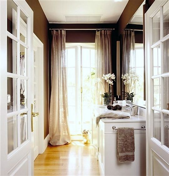 """Sheer curtains Rod above trim more than 5"""""""
