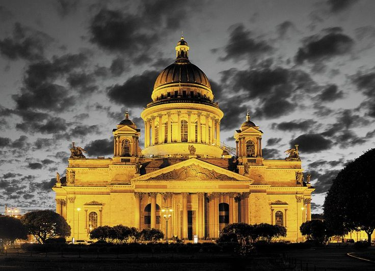 Night St. Isaac's Cathedral