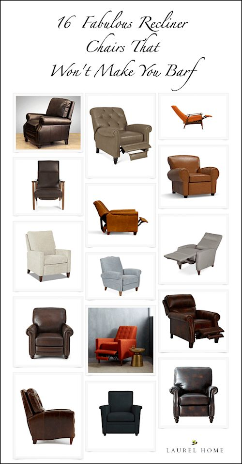 The recliner chair looks like a hippopotamus mated with a shar pei and is about to give birth to septuplets. Please, tell me there's something better...