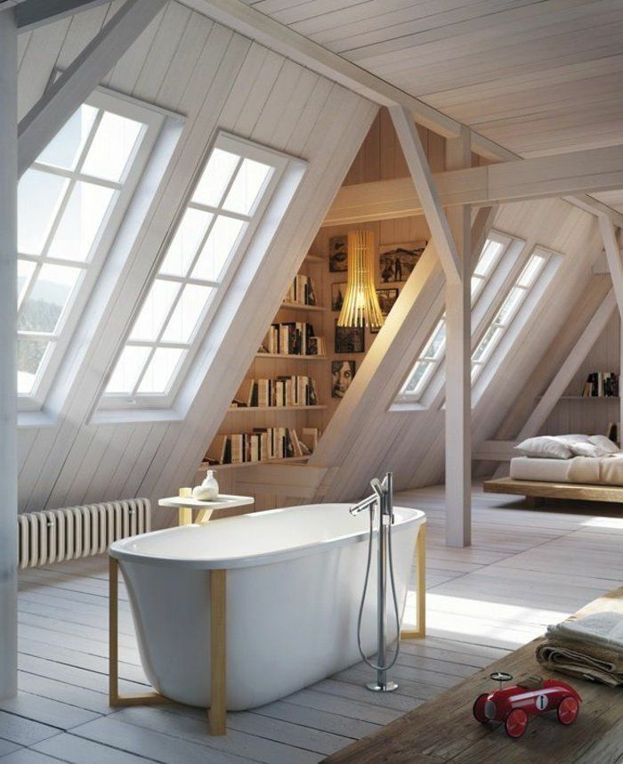 17 migliori idee su pente de toit su pinterest am nagement toit en pente a - Chambre sous pente de toit ...