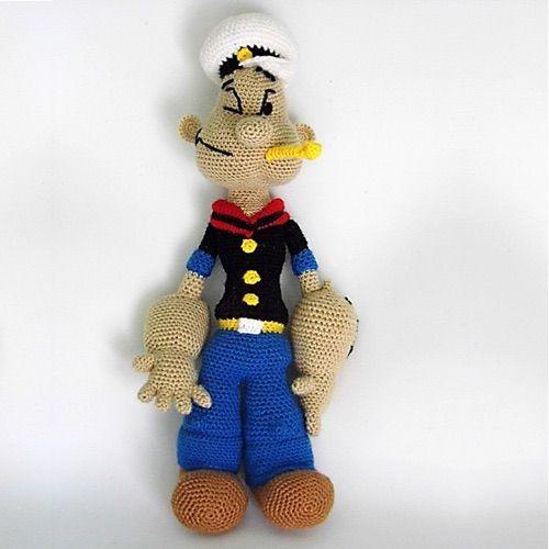 Crochet Pattern Popeye Doll : Patron PDF Popeye Amigurumi amigurumis Pinterest ...