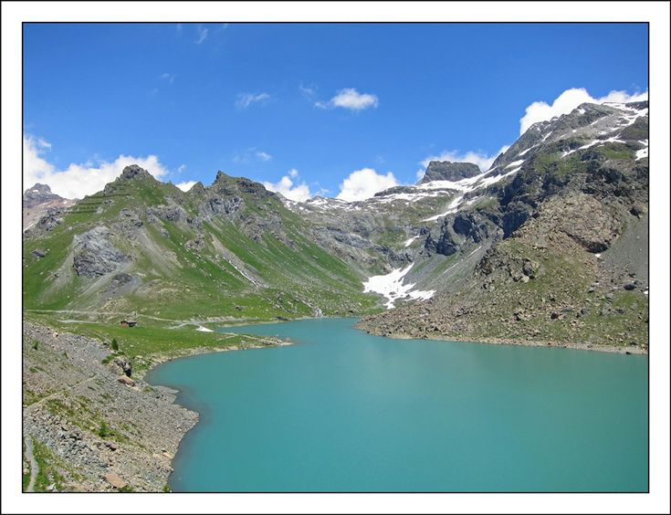 Lago Gabiet - Staval, Aosta-Aoste, Italy | Photo © Alessandro Macchi | 'Lake Gabiet (2371 m) is an artificial lake located in a beautiful valley (Valle del Lys - Lys Valley) , surrounded by numerous peaks with a wide view on Monte Rosa, you can see from various point of the lake the Breithorn, the Castor and Pollux, and Lyskamm.'' |