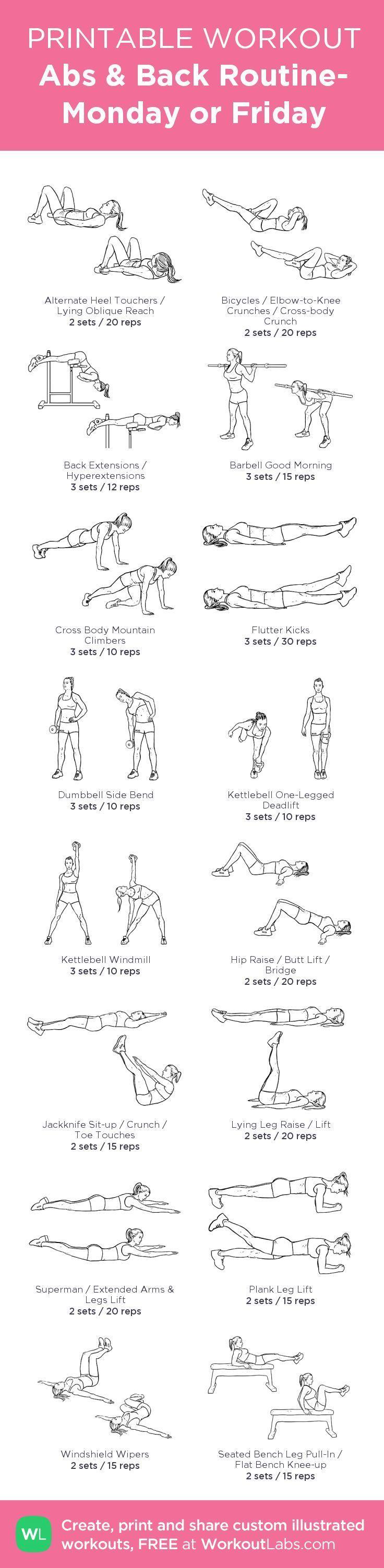 Best Back routine ideas on Pinterest