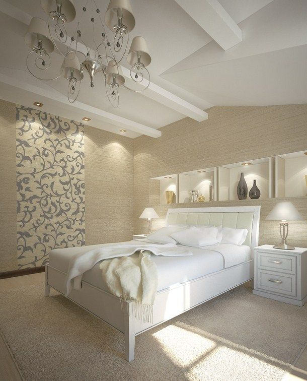 luxury bedroom with artistic decor - Designed Bedroom